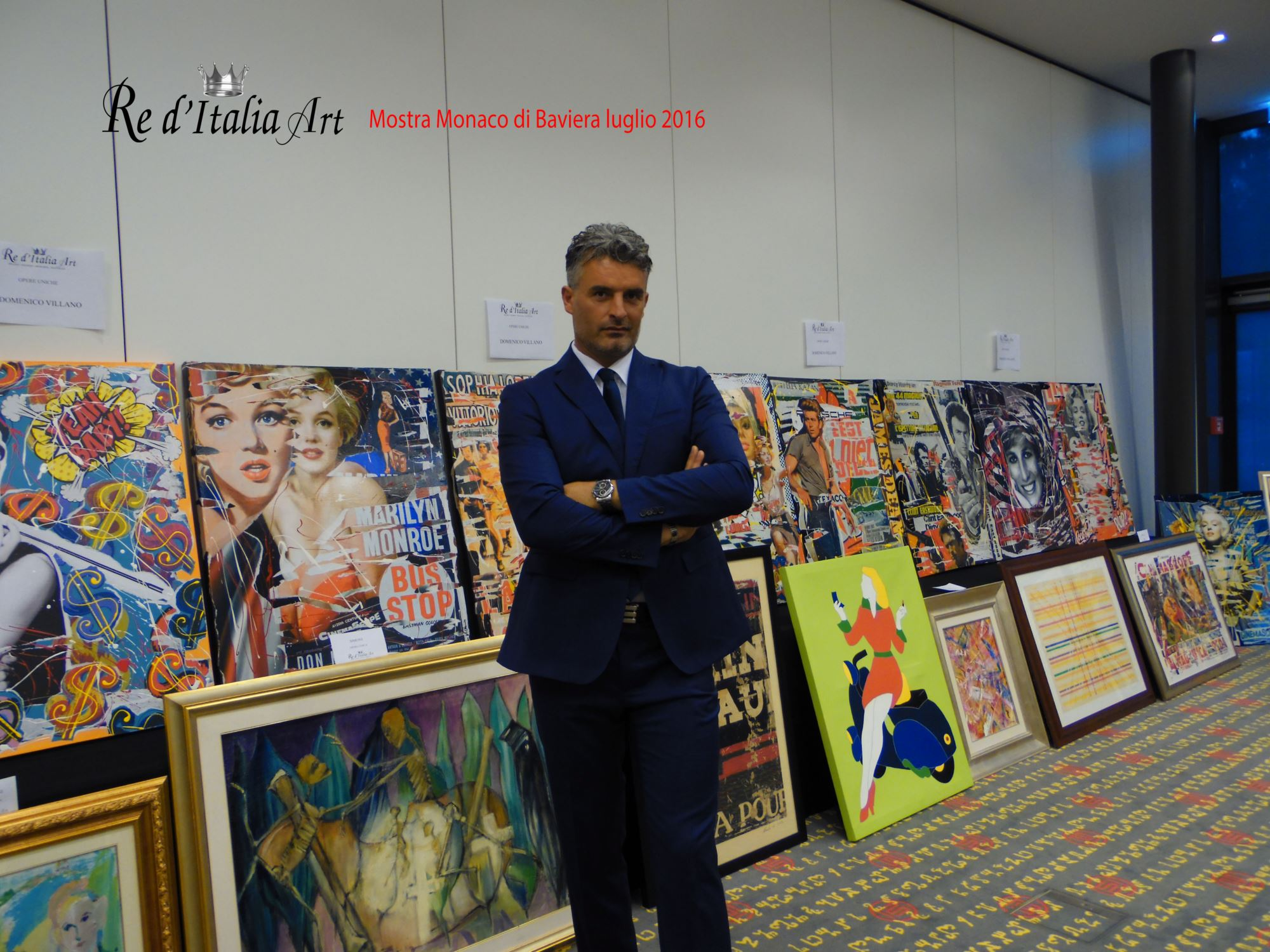 Mostra Monaco luglio 2016 • Re dItalia Art