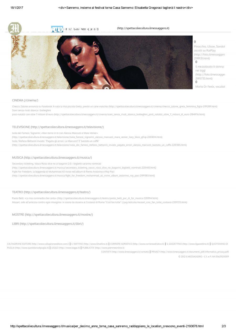 Press Mostra Casa Sanremo 2017